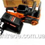Аккумуляторная цепная пила Rupez RCS-40Li сАКБ и Зарядным устройством