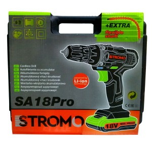 Шуруповерт аккумуляторный STROMO SA 18 PRO Extra (гибкий вал)
