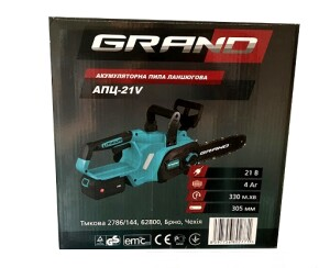 Аккумуляторная пила цепная Grand АПЦ-21V (4)