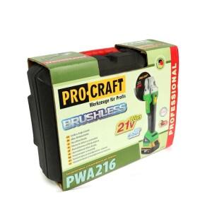Болгарка аккумуляторная Procraft PWA216 (9)